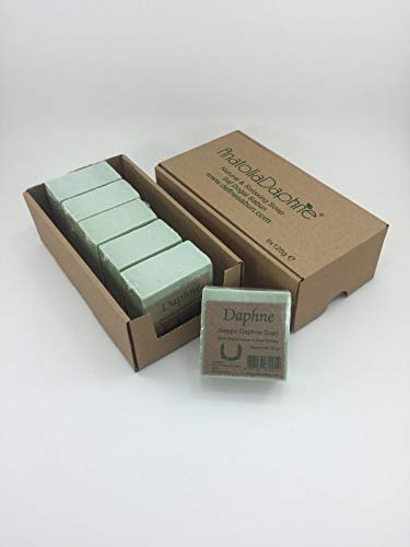 (Aleppo Soap Bar - Handmade - 100% Pure Natural, Vegan with Olive Oil & Laurel, 5.6 oz Each Bar (6 Bars))