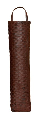 Your Hearts Delight 4-1/2 by 19-1/2 by 3-Inch French Wall Basket, Long, Burgundy