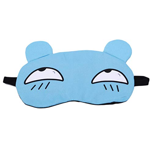 LZIYAN Sleep Masks Cartoon Sleep Eye Mask Soft Cute Eyeshade Eyepatch Travel Sleeping Blindfold Nap Cover,Blue by LZIYAN (Image #1)