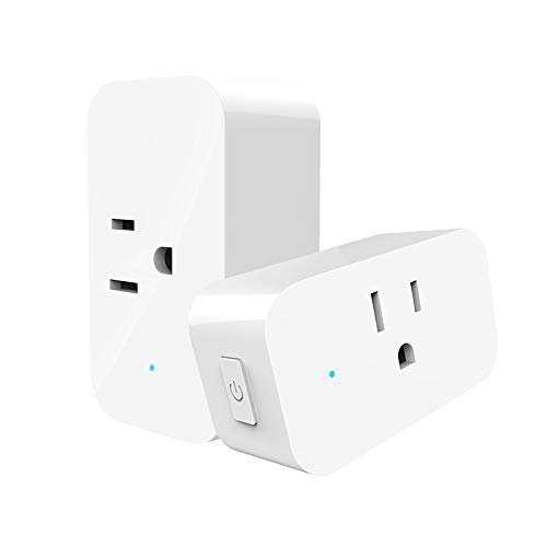 LINGANZH Smart Plug 2 pack, Wi-Fi Outlet Compatible with Alexa Echo Google Home and IFTTT, No Hub Required, Timing Function, WiFi Wireless Energy Saving, Remote Control Your Devices From Anywhere