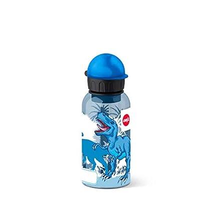 Emsa 518127 - Botella hermética con diseño de Dinosaurios antiderrame con Piezas fáciles de Limpiar y