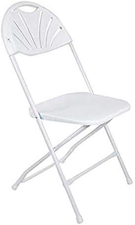 Chaise pliante en plastique Accueil pliant Tabouret, Chaise de loisirs portable, écologique Chaise de salle à manger en plein air, ergonomique -45 * 43 * 88cm - Blanc - Deux