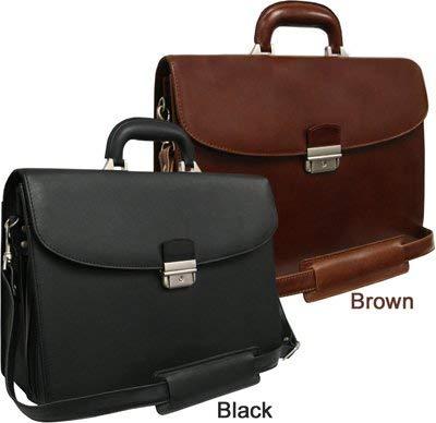 AmeriLeather APC Functional Leather Executive Briefcase (Black) - Apc Leather Case