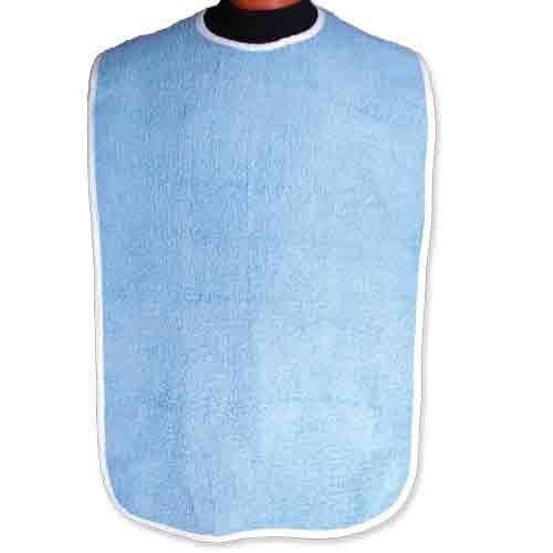 BIB ADULT 18 X 36 BLUE W/SNAP (DZ) by Primaguard Textiles