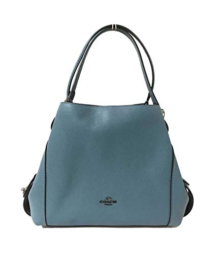 - COACH Women's Refined Pebble Leather Edie 31 Shoulder Bag (Chambray)