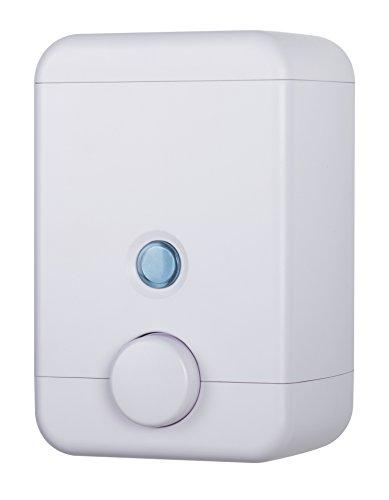 Universal Liquid Soap Dispenser - HOMEPLUZ Cube Wall-Mounted Soap Dispenser - Refillable Liquid Soap Pump for Kitchen Sink and Bathroom - Universal Liquid Soap Dispenser - Durable Plastic - Large Capacity (25oz) - (White)