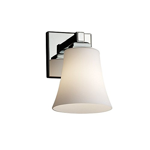Justice Design Group Glass Sconce - Justice Design Group Lighting FSN-8431-20-MROR-DBRZ Justice Design Group - Fusion - Regency 1-Light Wall Sconce - Round Flared - Dark Bronze Finish with Mercury Glass Shade,