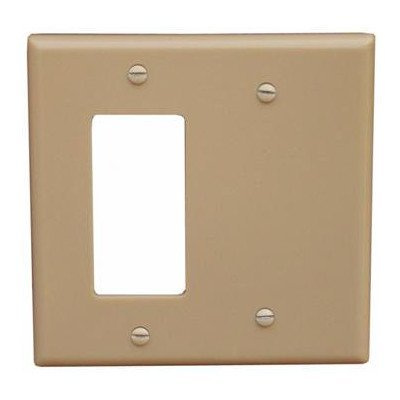 Morris 81220 Lexan Wall Plate, 2 Gang with 1 Blank, 1 GFCI, Ivory ()