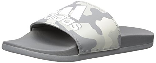 adidas Performance Men's Adilette CF+ Link GR Slide Sandal, Grey Three Fabric, FTWR White, Grey Two Fabric, 16 M US