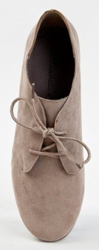 Toe Lace Suede Taupe Oxford Premium 31w Shoes Vegan Up Round Breckelle's Sandy xwaOSqYtX