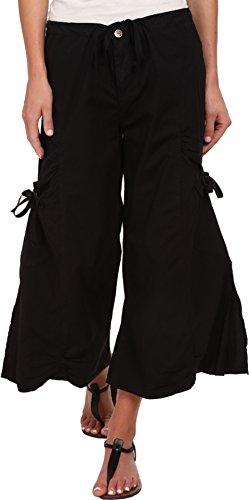 XCVI Women's Cargo Gaucho Crop Black Small 23
