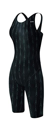 - TYR Women's Fusion 2 Short John Swim Suit, Black, 36 -Inch
