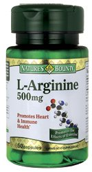 Natures Bounty L-Arginine 500mg Capsules - 50 ea, (2 Pack)