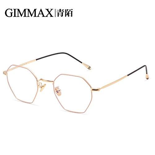 Rubia Outer masculina prueba a Cuadro In azules la de de contra de exterior y gafas femenina pionero rosa gafas Blonde radiación KOMNY ocho de caras Pink personalidad en juego RqY7Yp