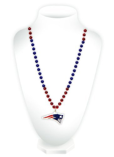 2017 New Style Necklace - NFL New England Patriots Team Logo Mardi Gras Style Beads