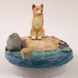 Conversation Concepts Miniature Finnish Spitz Candle Topper Tiny One ''A Day on the Beach'' by Conversation Concepts