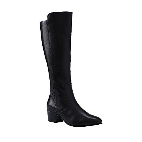 Canvas by Lands' End Women's Tall Dress Boots, 9.5, Black
