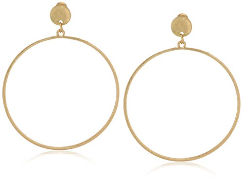 - CANVAS Womens Large Gold Tone Post Hoop Earrings, One Size