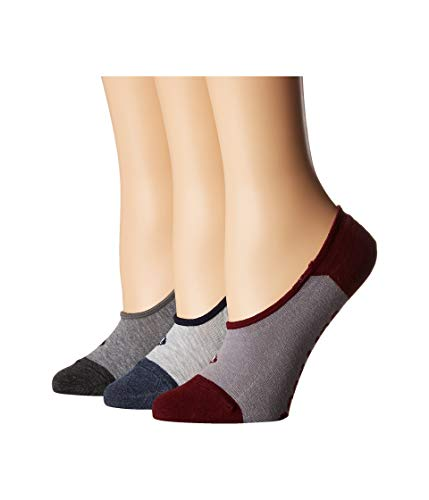 Sperry Top-Sider Women's 3 Pack Canoe No Show Liner Socks, Gray Heather Assorted, Shoe 4-10/Sock Size 9-11 by Sperry Top-Sider (Image #2)
