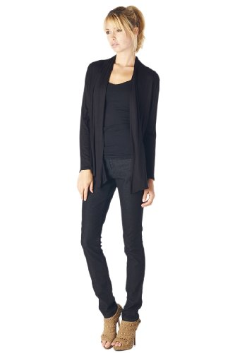 82 Days Women'S Rayon Span Super Comfortable Basic Cardigan - Solid
