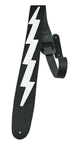 Perris Leathers | Leather Guitar Strap (Lightning Bolt) 44.5