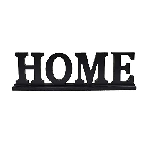 Family Sign for Home Decor, Wooden Family Block Letters Rustic Tabletop Words Decor (Home) ()