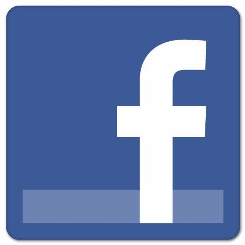 Facebook Logo Store Cafe Shop Sign Vinyl Sticker 10  X 10