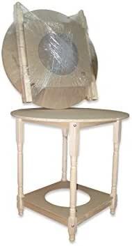 Mesa camilla redonda (90 centímetros, 75 centímetros): Amazon.es: Hogar