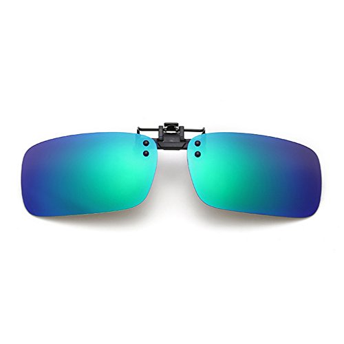 LOMOL Fashion Polarized Myopia Clip-on Flip up UV Protection Rectangular - Priced Sunglasses Low Designer