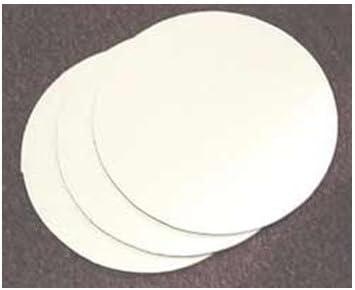 14: 10 Pieces White Top Circle Cake Board