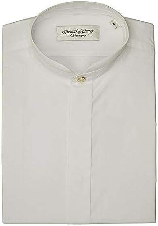 David Latimer Hombre Cuello Mao Camisa en Blanco: Amazon.es: Ropa y accesorios