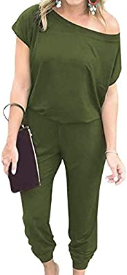Jurebecia Women Sweatsuit 2Pcs Solid Long Sleeve Activewear Tops+Drawstring Sweatpants Outfits Loose Casual Tr