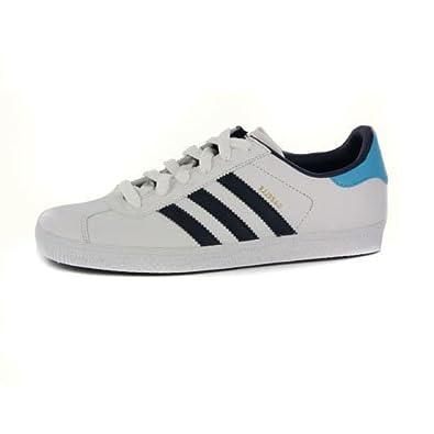 adidas gazelle womens. womens adidas gazelle white leather trainers uk 6: amazon.co.uk: shoes \u0026 bags e