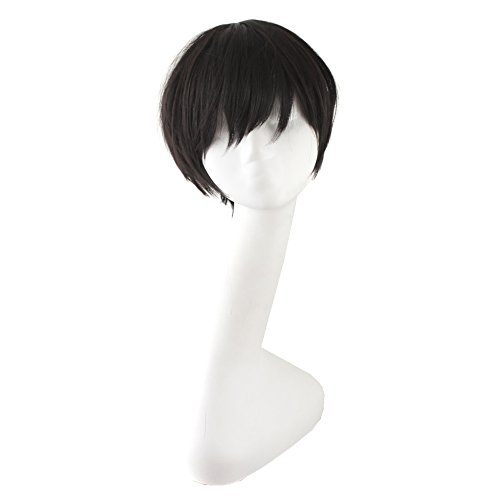 "MapofBeauty 12"" Black Hot Cosplay Party Straight Short Wigs"