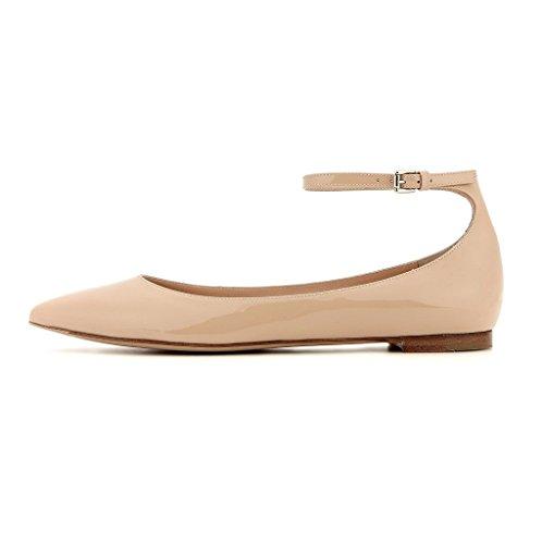 Kolnoo - Chaussures Fermées Pour Femmes, Beige (beige), 36 Eu