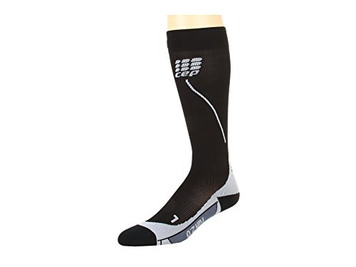CEP Women's Progressive+ Run Socks 2.0, Black/Grey, 3