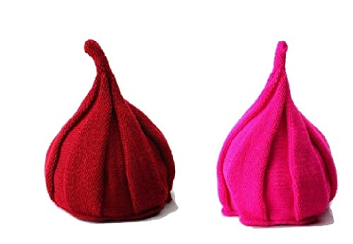 Troll Hair Knit Hat from Chunks of Charm (Cherry Red) ()