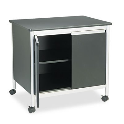 Deluxe Steel Machine Stand, One-Shelf, 32w x 24-1/2d x 30-1/4h, Black, Sold as 1 Each ()