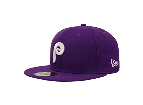 (coopertown purple Men's Fitted Hat Cap Phillies (7 3/4))