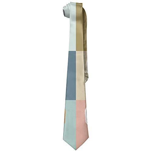 French Bulldog Puppies Mosaic Polyester Neckwear Silk Neck Tie, Gentleman Cool Personalized Classic Neckties,Graduation Meeting Business Casual Skinny ()