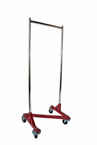 "NAHANCO Z24 Mini Rolling Z Clothes Rack - Red Base – 24""W, by NAHANCO"