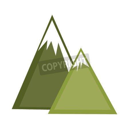 adrium Mountains Ice Natural Icon Vector Ilustración Diseño ...