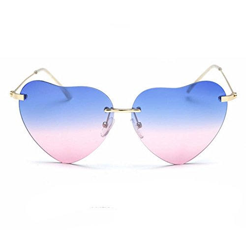LOMOL 2017 New Womens Personality Cute heart-shaped UV Protect - To Prescription Glasses Oakley Where Buy