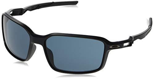 Oakley Men's OO9429 Siphon Rectangular Sunglasses, Matte Black/Prizm Grey, 64 ()