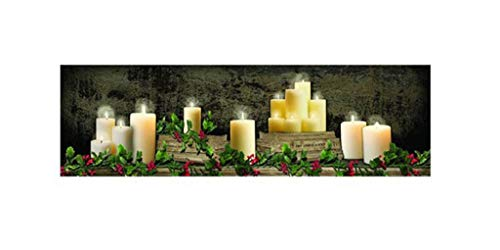 (Ohio Wholesale Inc/Kennedy Canvas-Christmas Mantel Of Candles (Radiance Lighted) (6 x 6 x 1.25))