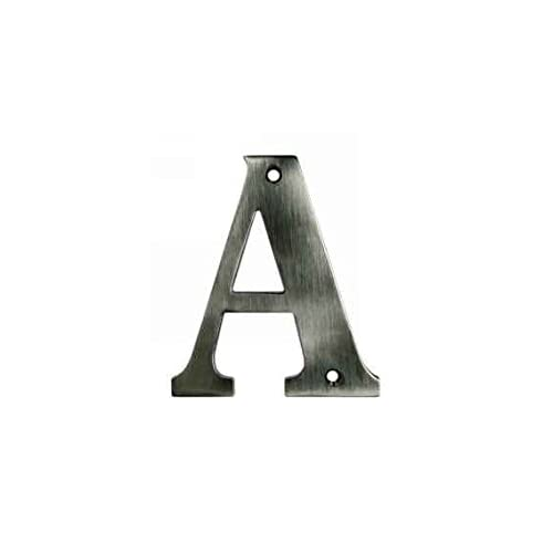 4 in. Solid Brass Residential Letter (Set of 10) (V - Oil Rubbed Bronze)