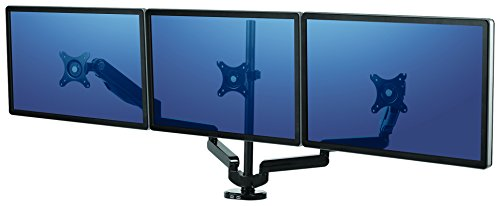 Fellowes Platinum Series Adjustable Triple Monitor Arm - Arms Adjustable Series