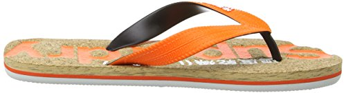 Pop Colour Superdry Optic Orange Hombre de Dedo Cork Sandalias Fluro Multicolore EFFSrHwxq5