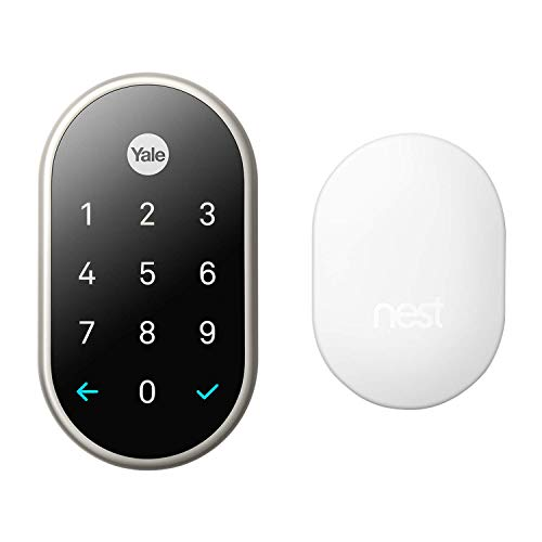 Nest x Yale Lock with Nest Connect - Smart Lock - Satin Nickel (RB-YRD540-WV-619)