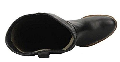 Stivali 11sunshop Modello Jason In Pelle Hgilliane Dal Design In 33-44 Nero